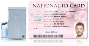 print laminated national id card