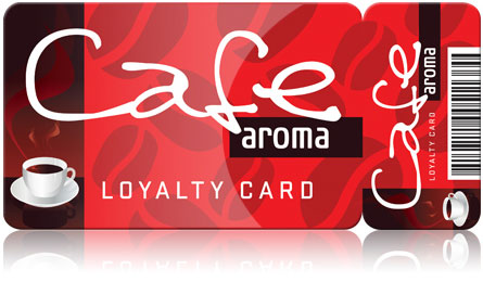 Print large formats card for loyalty and membership schemes