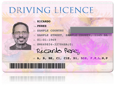Print government driver licences